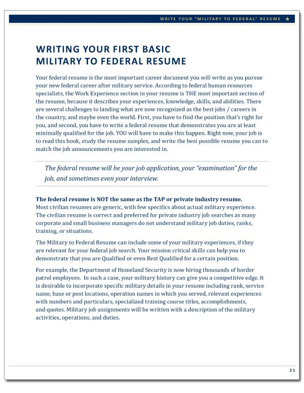 Military to Federal Career Guide, 2nd Edition, page 21