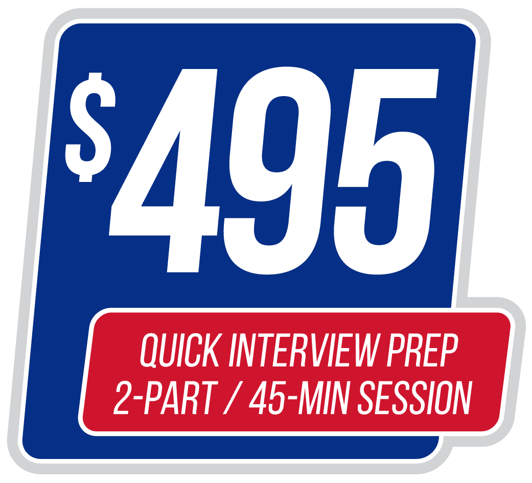interview quick prep  u2013 two sessions  45 min each