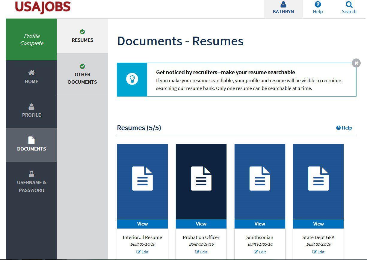 5 Secrets To The New Usajobs Applicant Pages Resume Place